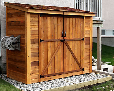 Outdoor Living Today SpaceSaver 9 ft. W x 5 ft. D Solid Wood Lean-To Tool Shed