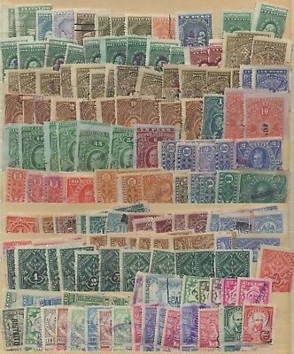 Group of Talon Repaired Mexico Revenue Stamps~Old Collection