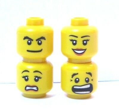 Angry for Minifigures 3626bpb272 LEGO Two Face Head Scared