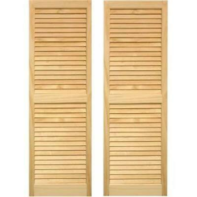 Pinecroft SHL63 Exterior Louvered Shutters 15 x 63 in.
