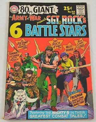 Our Army At War SGT. ROCK'S BATTLE STARS #164 Ungraded Silver Age Comics 1966 DC