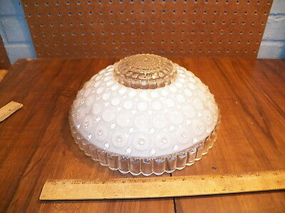Vintage Frosted Bubble Glass 3 Chain Hanging Ceiling Light Shade