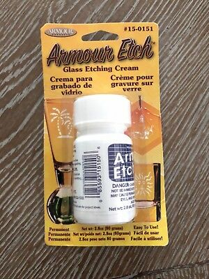 Armour Glass Etching Cream 2.8 oz. CARDED AND UNCARDED