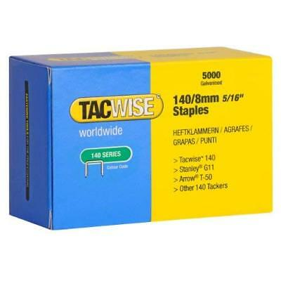 Tacwise 140 Series 8mm Staples (Pack of 5000)