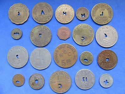 (20) Coal Mine Scrip Tokens Wv Boone, Skelton, Mahan, Lundale, Summerlee, Reed