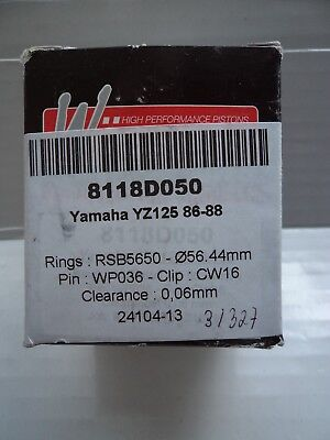 Yamaha YZ 125  YZ125 Wossner High Performance Piston Kit 0.50mm  O/S  86-88