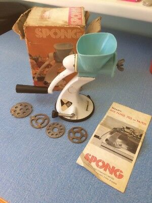 Spong Vintage/retro Metal/Plastic Blue Mincer In Box N705