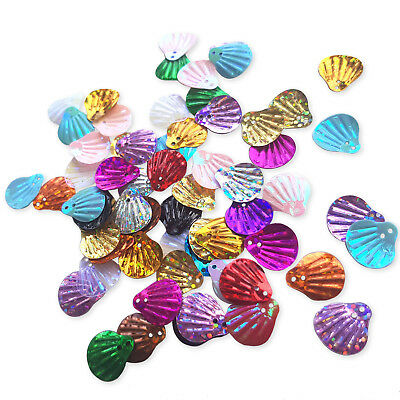 200pcs Seashell Sequins Scales Mermaid Costume Sewing Craft Embellishments  DIY