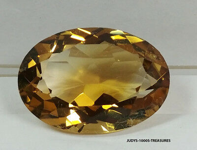 CITRINE OVAL CUT LOOSE ROCK QUARTZ 24.94 x 17.71 x 10.86mm. 27.04ct CUT IN JAPAN