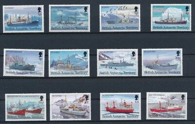[G85995] British Antarctic Territory Boats good set Very Fine MNH stamps