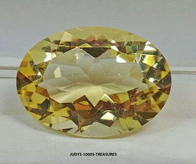 CITRINE OVAL CUT LOOSE ROCK QUARTZ 24.82 x 17.82 x 11.83mm. 27.14ct CUT IN JAPAN