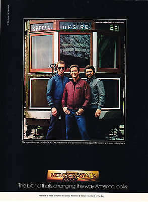 1984 Larry Gatlin & Brothers photo Members Only Wear Ad