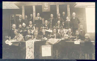 Singer Sewing Machines, RPPC, Maksuta Kursus, Women Sewing Demonstration 1927