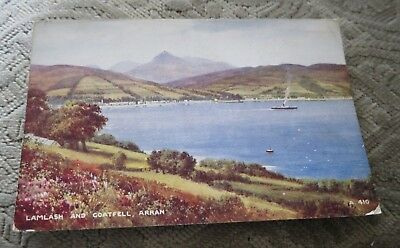 Vintage Lamlash And Goatfell Arran Brian Gerald Art Colour Postcard