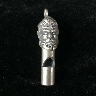 Chinese Rare Collectible Old Tibet Silver Handwork Monkey King Whistle Statue