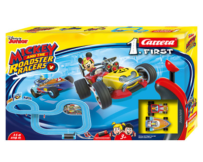 FIRST Set Mickey and the Roadster Racers Carrera 63013 OVP Variante 2 * NEU