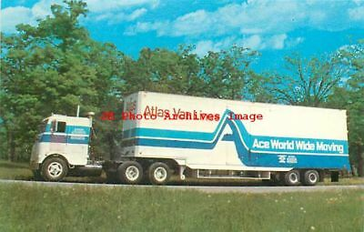Advertising Card, Atlas Van Lines, Ace World Wide Moving Truck, Milwaukee, WI