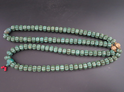 "27.55""Old Chinese  jade, collectibles, Tibetan, turquoise, necklaces,515g"