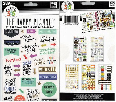 MAMBI THE HAPPY PLANNER STICKERS - FITNESS PLANNER - GYM, EXERCISE - 289 pc
