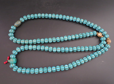 "26.37""Old Chinese  jade, collectibles, Tibetan, turquoise, necklaces,376g"