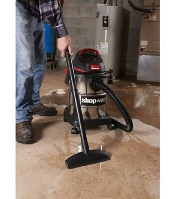 Shop-Vac Stainless Steel Wet/Dry Vac 6 Gallon 4.5 Peak HP