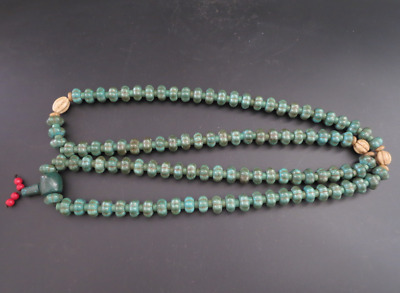 "23.62""Old Chinese  jade, collectibles, Tibetan, turquoise, necklaces,227g"