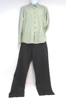 Lot Men's Dockers Black Dress Pants 38 x 34 & G2000Man Green Checkered Shirt L