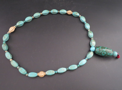Old Chinese  jade, collectibles, Tibetan, turquoise, necklaces Y4241