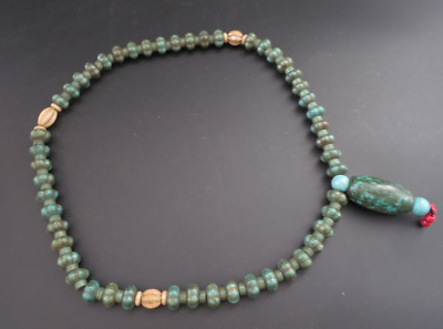 Old Chinese  jade, collectibles, Tibetan, turquoise, necklaces Y4242