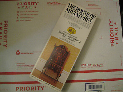 Vintage The House Of Miniatures X-Acto Chippendale Broken-Bonnet Highboy #40023