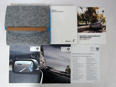 Other car manuals car truck manuals manuals literature parts 2014 bmw i3 owners manual book fandeluxe Gallery