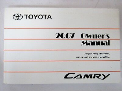 Awesome 2007 Toyota Camry Owners Manual Book
