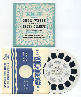 Snow White and the Seven Dwarfs 1946 View-Master Fairy Tale Single Reel FT-4