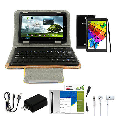 "10.1"" Android 6.0 Laptop Kids Tablet 16GB Dual Camera Kit & Keyboard Bundle US"