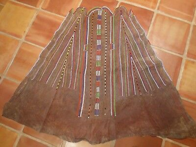 Maasai woman's leather cape / skirt