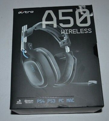 Astro Gaming A50 Black Blue Wireless Headset Dolby 7.1 for PS4 PS3 PC MAC