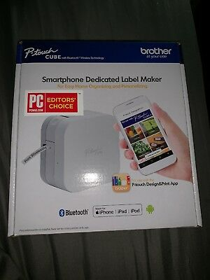 Brother P-Touch Cube Smartphone Label Maker PTP300BT PLEASE READ