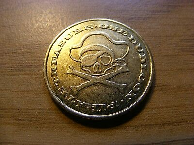 A Pirates Treasure One Dubloon gaming Token - Nice Condition - 25mm Dia