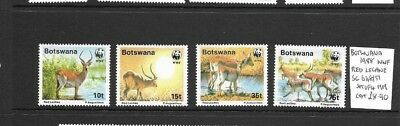 Botswana 1988 Red Leche WWF set mint