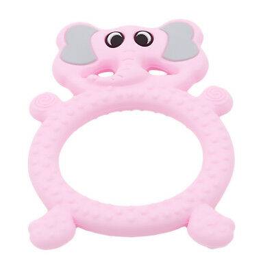 Silicone Cartoon Elephant Toddler Chewy Safety Teething Toys For Newborn Baby CB