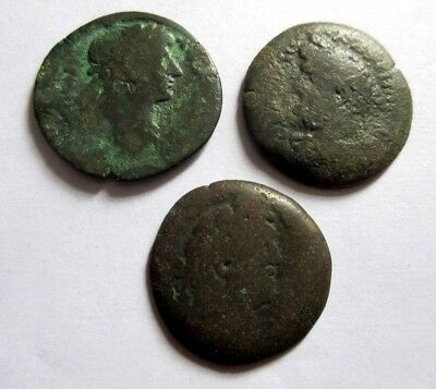 3 x Ae-Drachms of Hadrianus/Antoninus Pius from Alexandria in Egypt