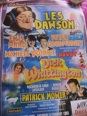 Theatre Poster, Les Dawson In Dick Whittington. Full Size. 1992. V/g. Plymouth.