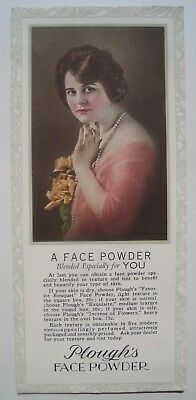 Plough's Face Powder; Pretty Woman Vintage Advertising Ink Blotter; Pink Back