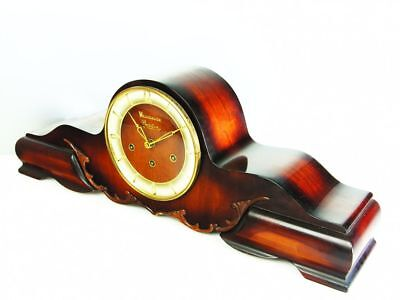 A Big Pure Art Deco Westminster Chiming Mantel Clock From Bariton Germany