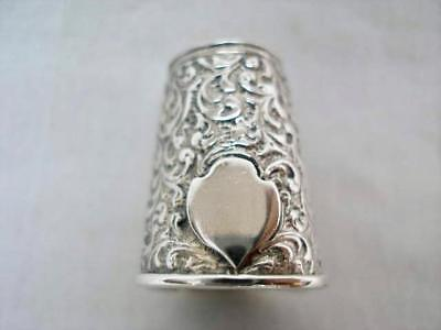 Heavy Ornate Cast Sterling Silver Thimble. 12.5 grams.