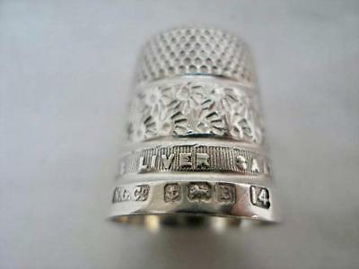 Advertising Silver Thimble Andrews Liver Salt By Northern Goldsmiths Date 1926