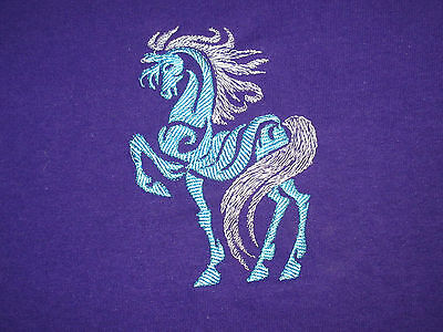 Embroidered Ladies Short-Sleeved T-Shirt - Tribal Horse S2-04 Sizes S - XXL