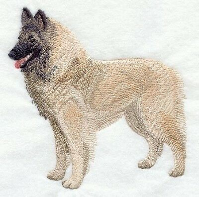 Large Embroidered Zippered Tote - Belgian Tervuren C5194