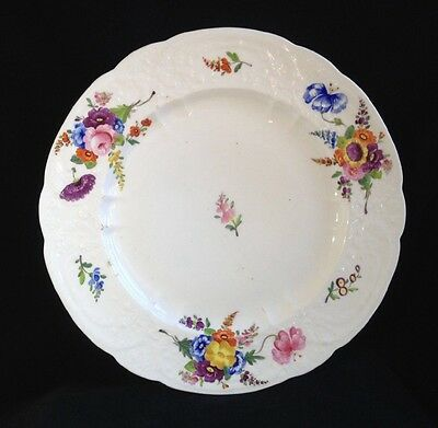 Late 18th Century English Porcelain Floral Cabinet Plate Possibly Coalport