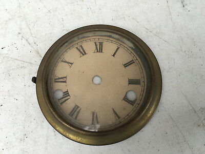Vintage Small Clock Face and Glass with Bezel  for  Parts / Repair ML156